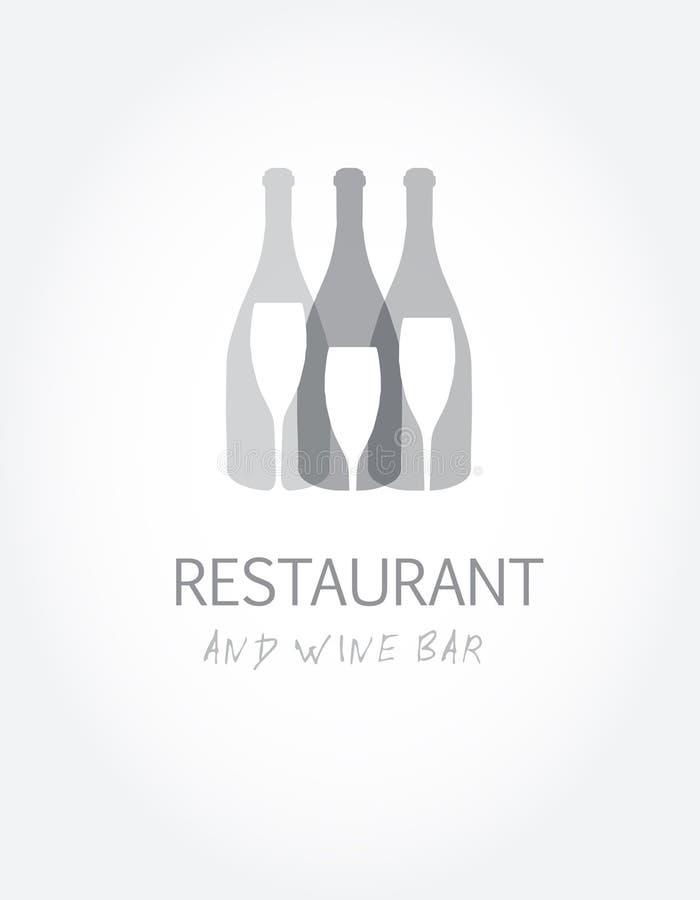 酒类一览表用不同的酒瓶的设计模板 皇族释放例证