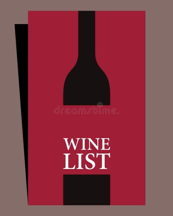 酒类一览表设计 库存例证