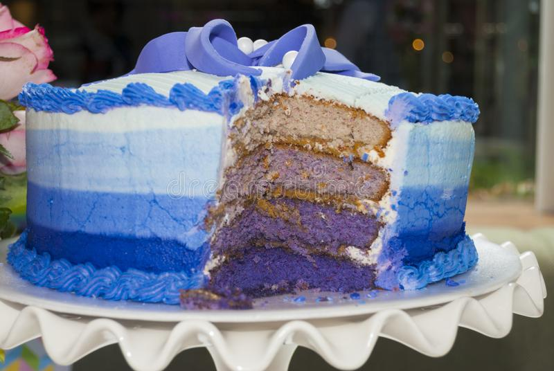 酥皮点心儿童的党细节、蛋糕欢欣和快餐,在儿童的党的甜点心 免版税图库摄影