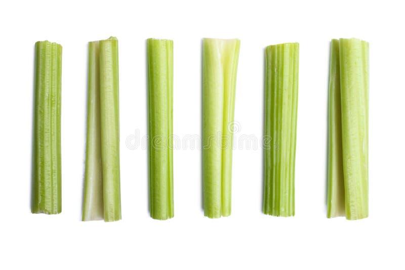酥脆切的芹菜 免版税库存照片