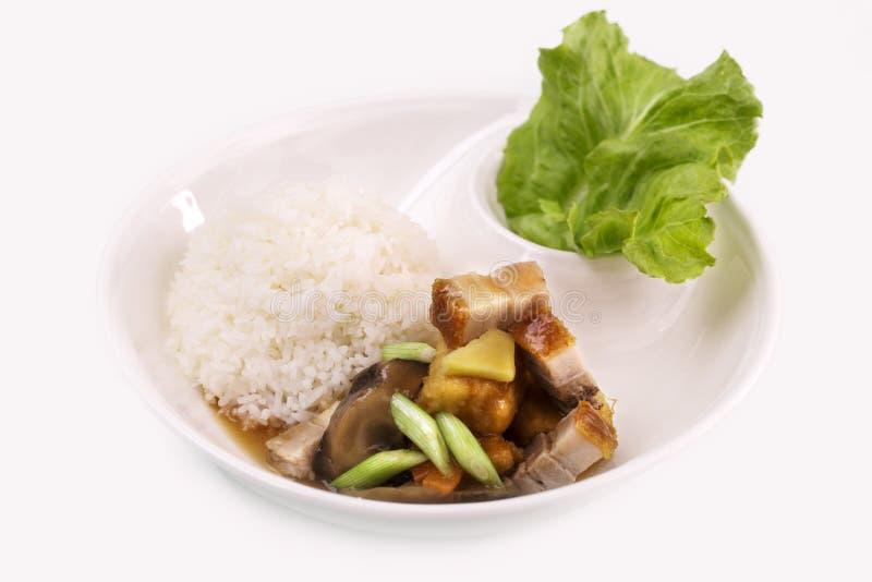 酥脆层状猪肉米 免版税库存图片