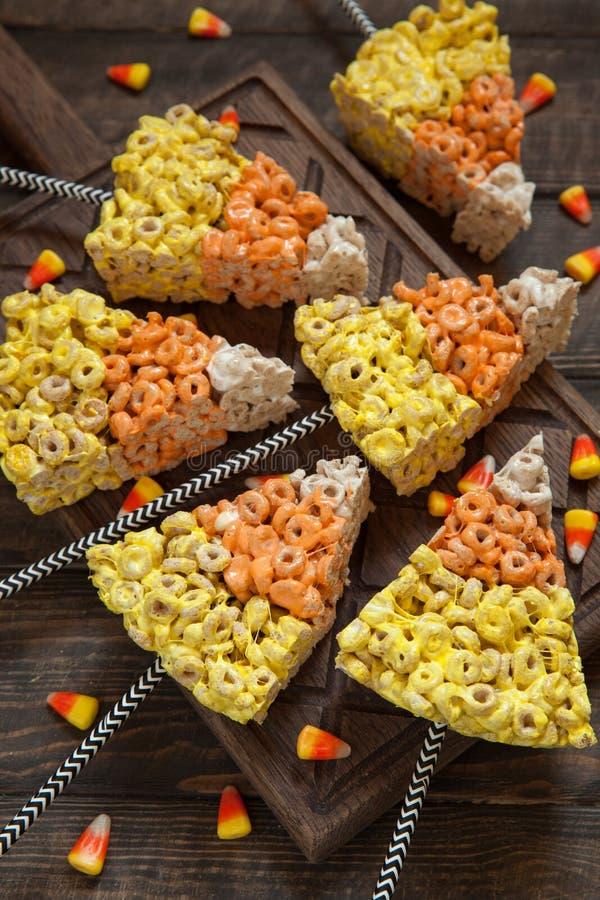酥脆燕麦圆环用蛋白软糖 免版税库存图片