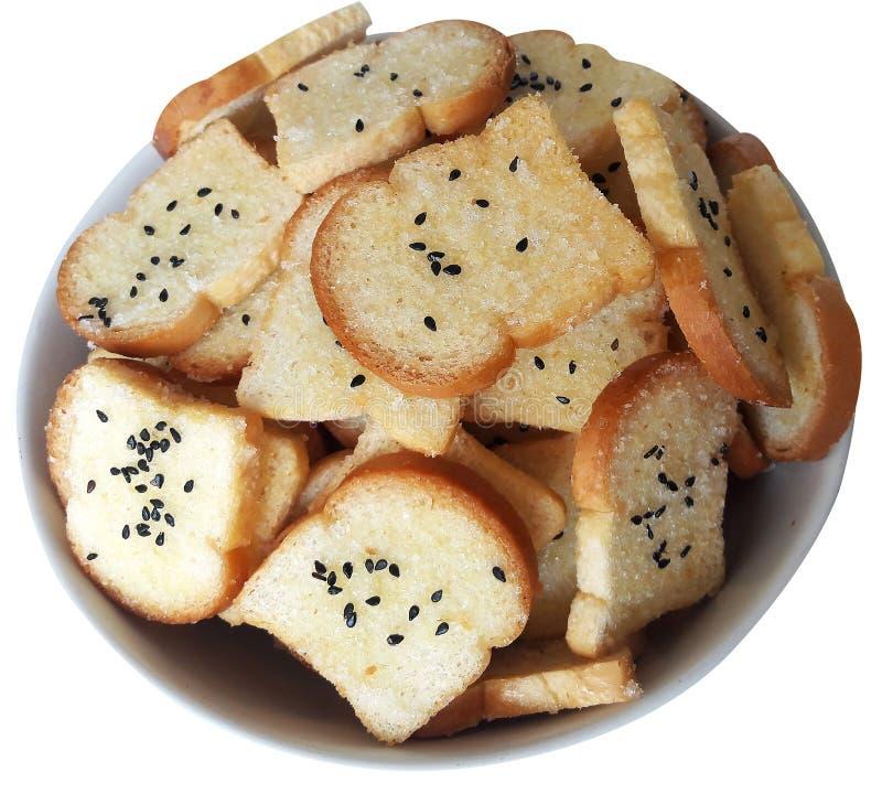 酥脆糖和黄油面包 免版税图库摄影