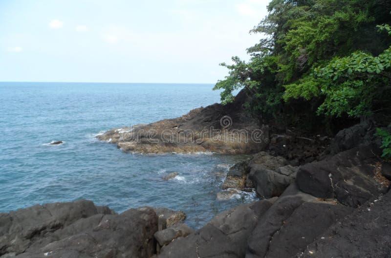 酸值张-天堂海岛在泰国 图库摄影