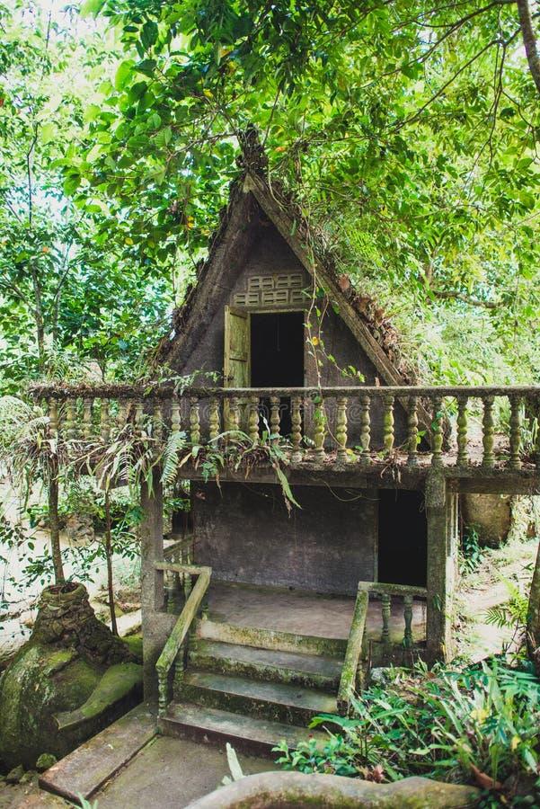 酸值的苏梅岛不可思议的庭院 免版税库存照片