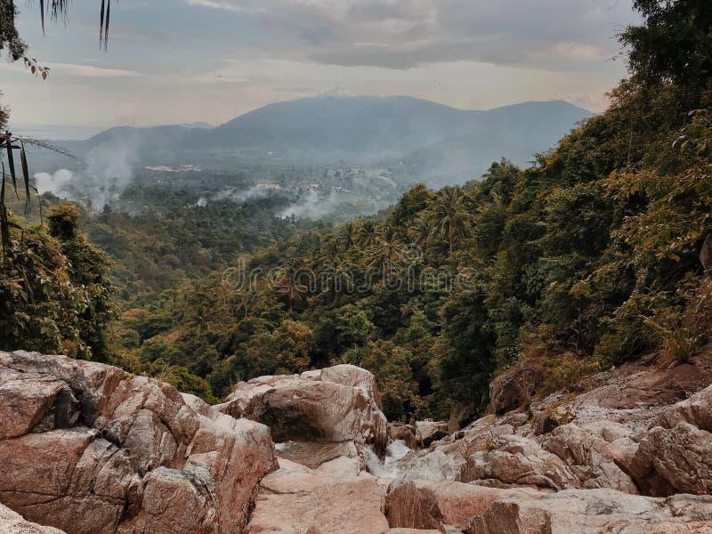 酸值的苏梅岛,泰国山景城 免版税库存图片
