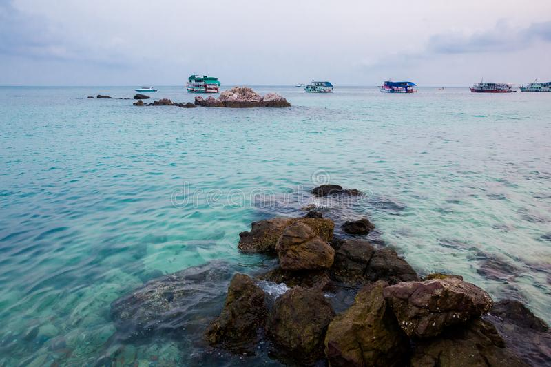 酸值Larn热带风景  免版税图库摄影