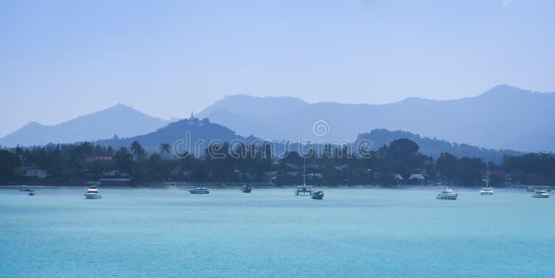 酸值samui海岛全景泰国 库存图片