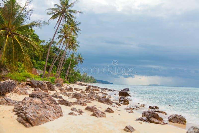 酸值Samui海滩 免版税库存照片