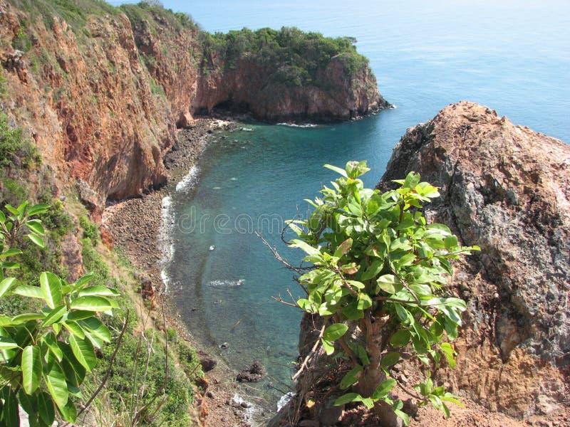 酸值Talu海岛风景观点  免版税图库摄影
