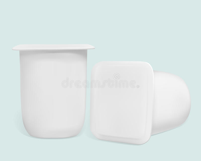 酸奶的容器 库存例证