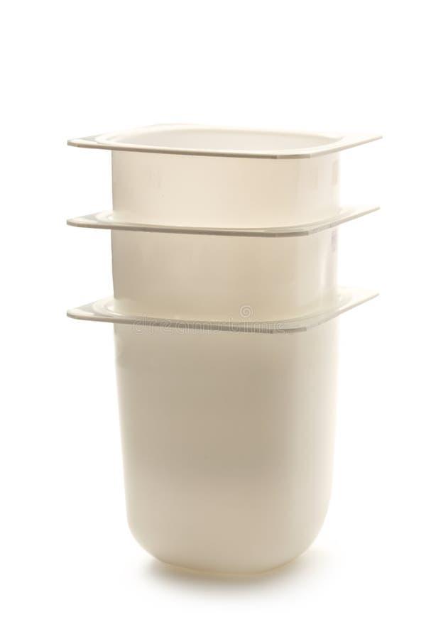 酸奶罐 免版税库存图片