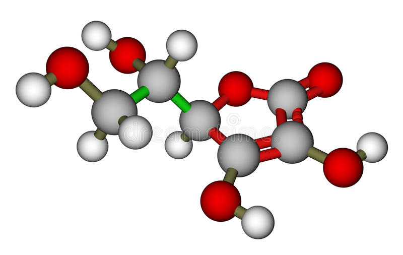酸抗坏血症模型分子 向量例证