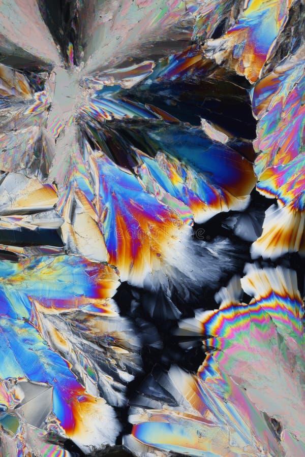 酸柠檬酸五颜六色的水晶 免版税库存照片