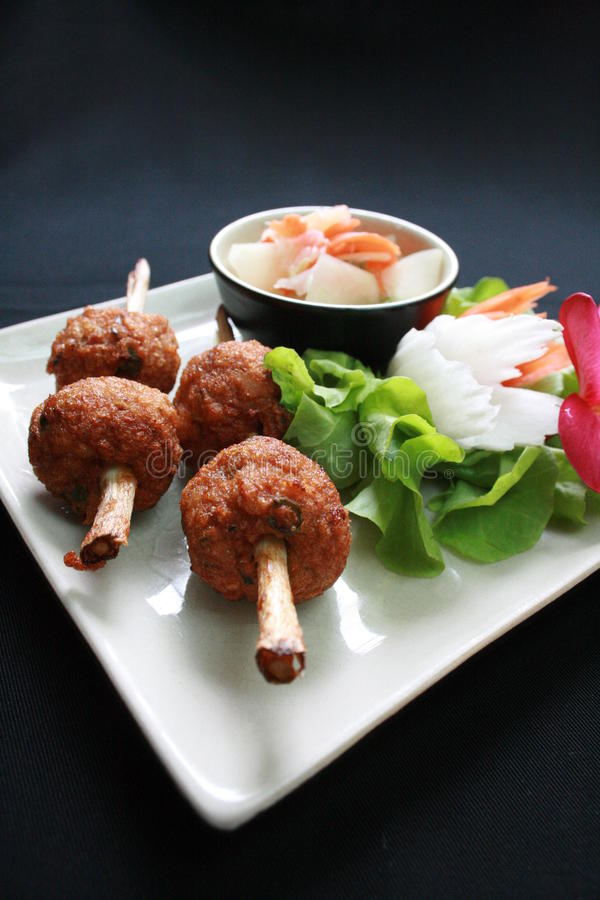酸食物的猪肉 库存图片