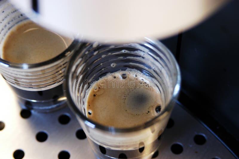 酿造浓咖啡 免版税库存照片
