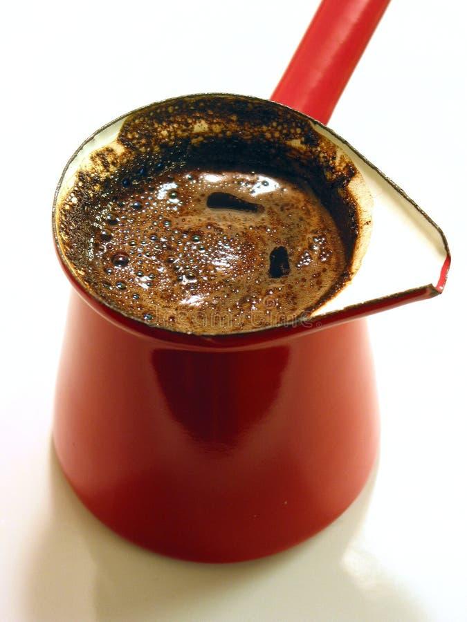 酿造的咖啡新近地土耳其 库存照片