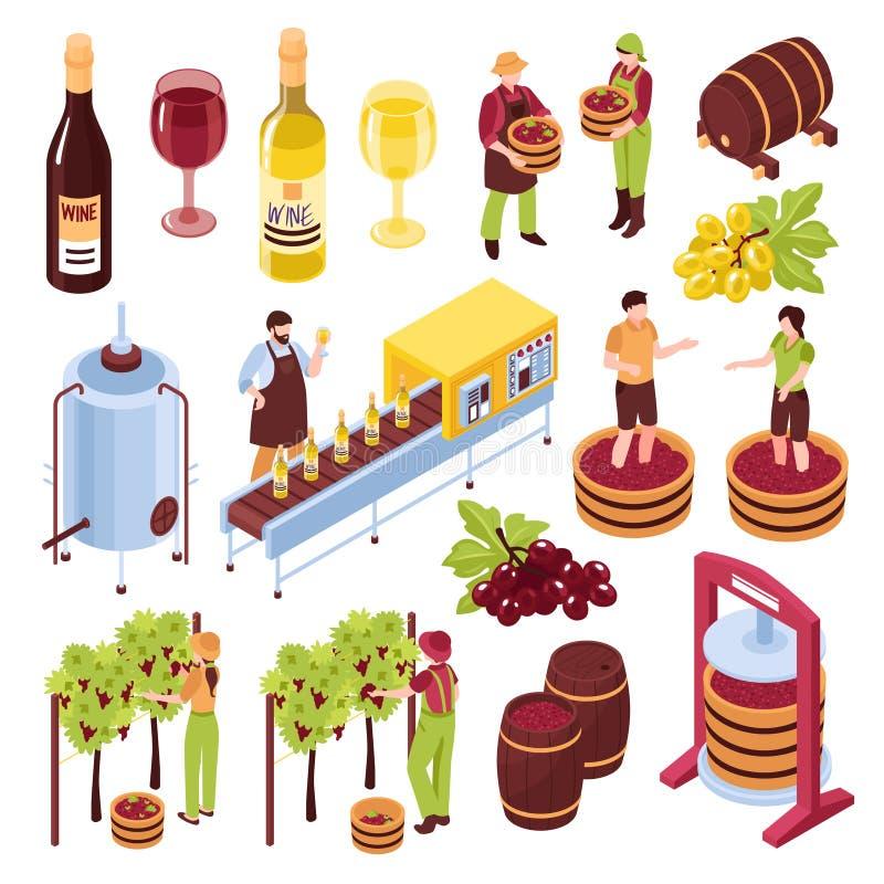 酿酒厂等量集合 库存例证