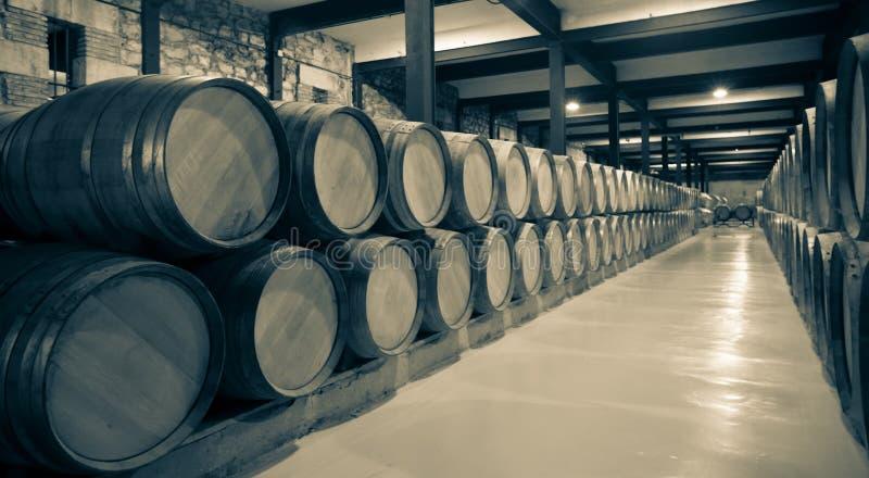 酿酒厂年迈的照片  免版税库存图片