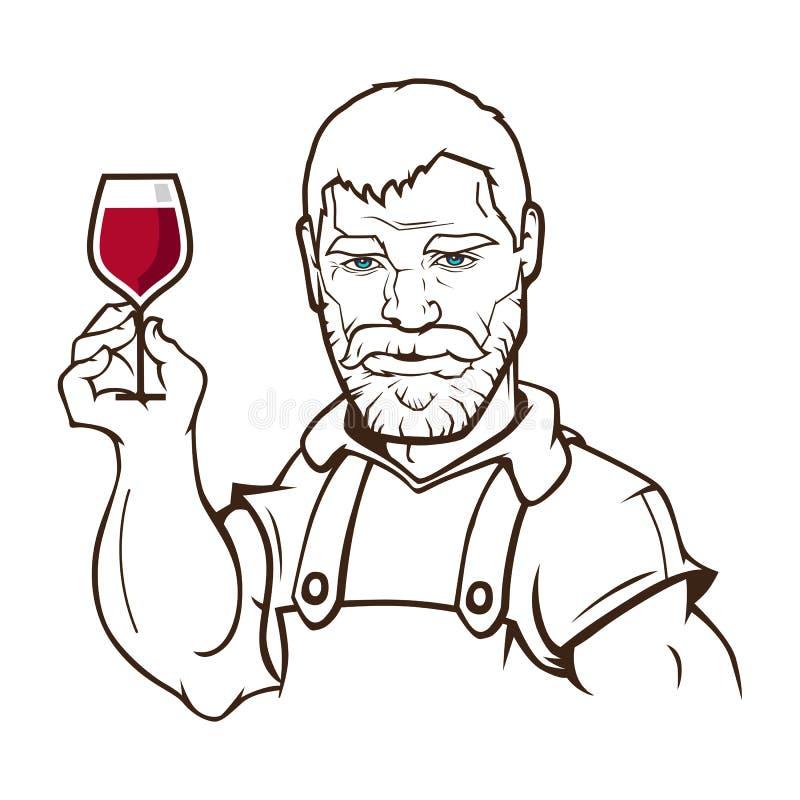 酿酒商字符 皇族释放例证