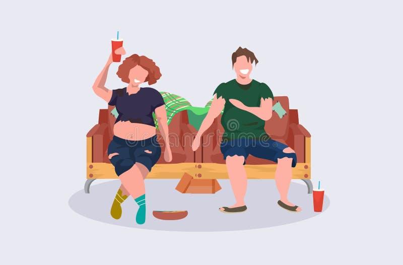 醉酒的一起喝酒精的妇女妇女叫化子夫妇坐的扶手椅子女性男性流浪者获得无家可归的乐趣 向量例证