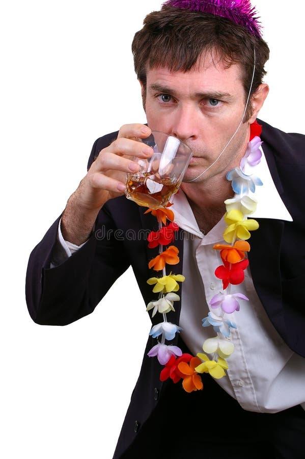 醉酒的人 免版税库存照片