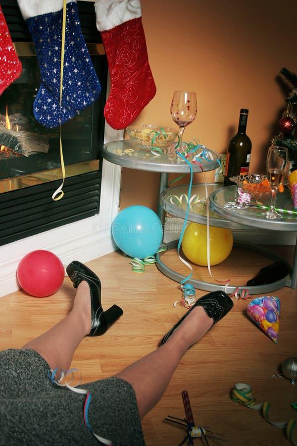 醉酒的办公室聚会 免版税库存照片