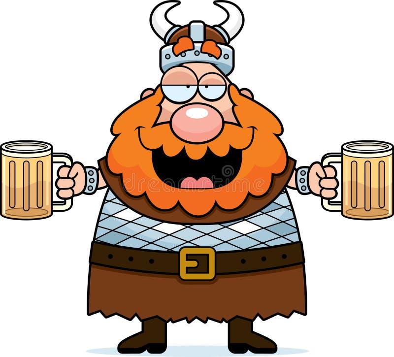 醉酒的北欧海盗 库存例证