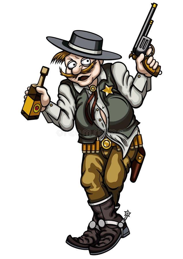 醉酒的枪手 皇族释放例证
