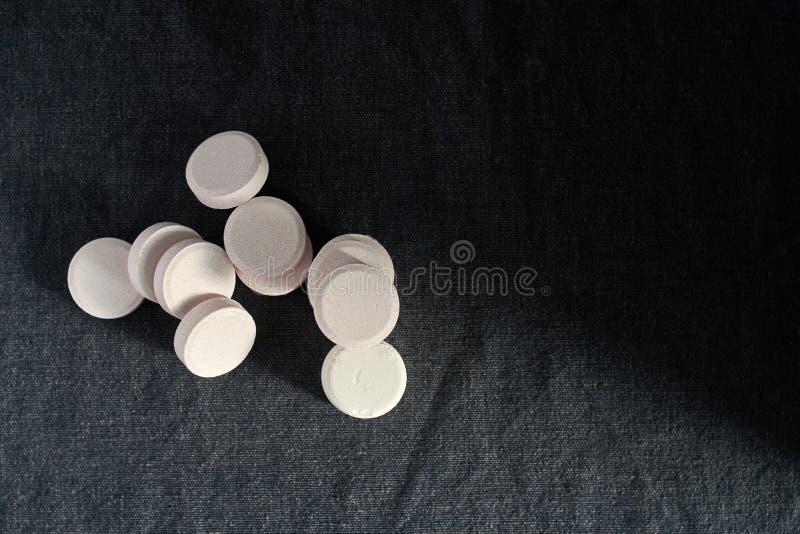 醋胺酚或扑热息痛,安心痛苦的医学 免版税图库摄影