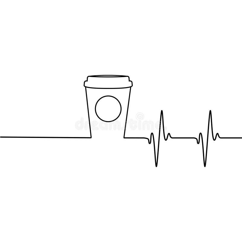 醒来您原始的商标的咖啡 库存例证