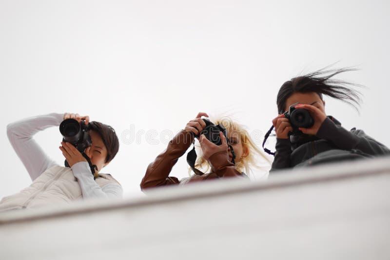 采取捕获的无固定职业的摄影师 库存图片
