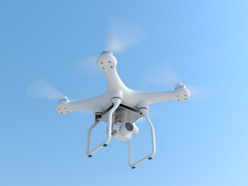 采取摄影的寄生虫quadcopter 库存例证