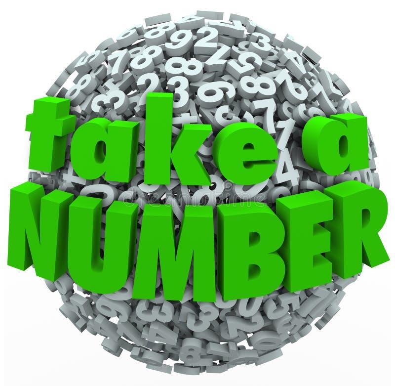 采取期望您的轮排队的数字等待 库存例证
