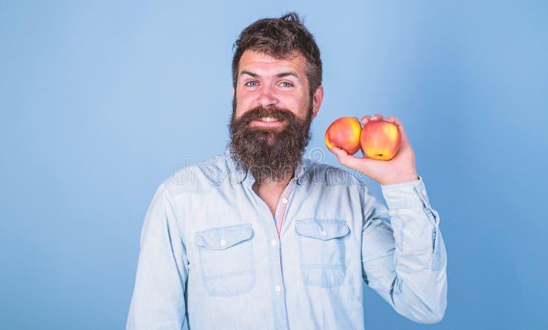 采取素食生活方式带来保健福利 健康营养 素食生活方式 有胡子行家的人 库存图片