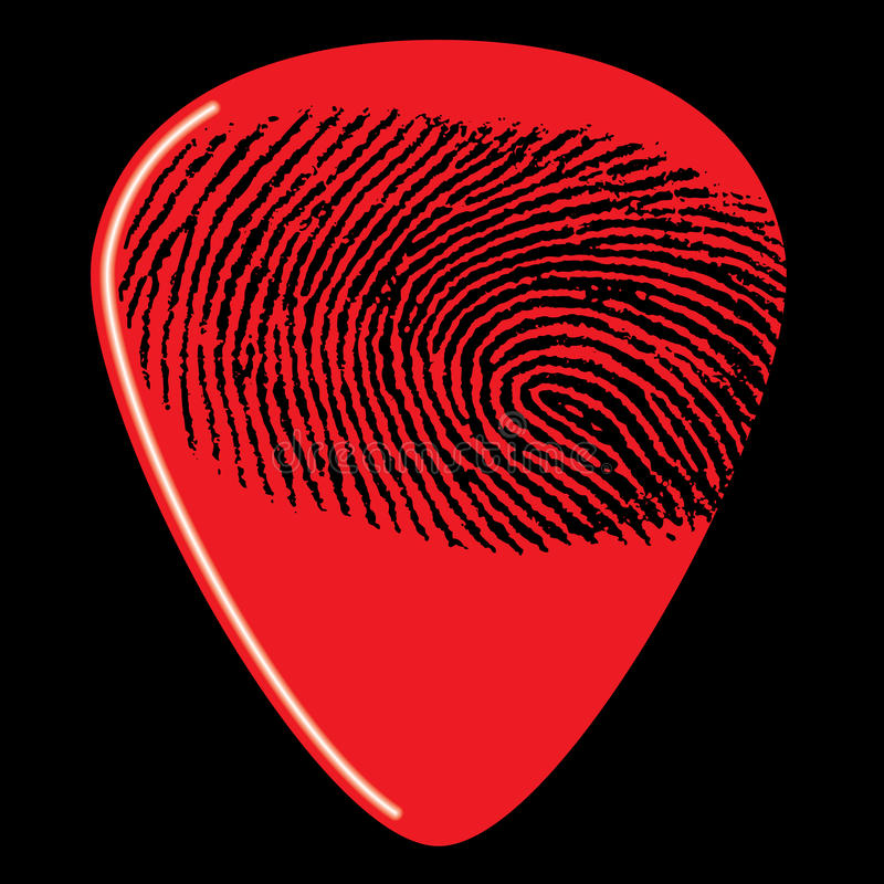 采吉他挑库的指纹 向量例证