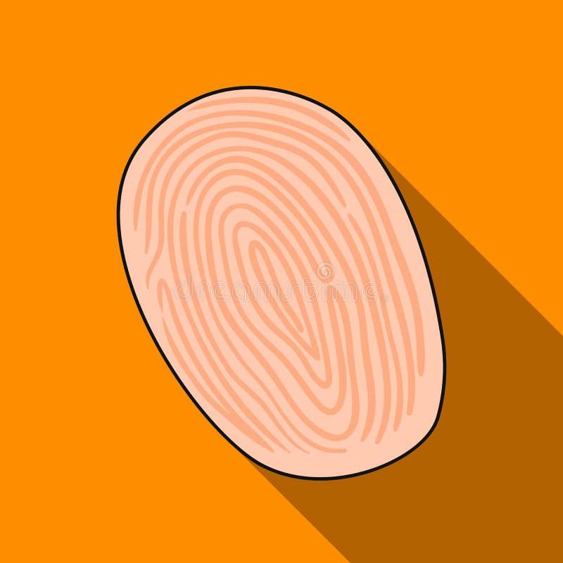 采在白色背景在平的样式的象的指纹隔绝的 罪行标志股票传染媒介例证 向量例证
