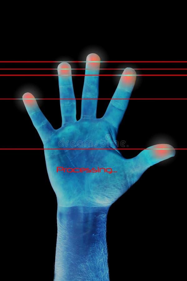 采扫描的指纹 免版税库存照片