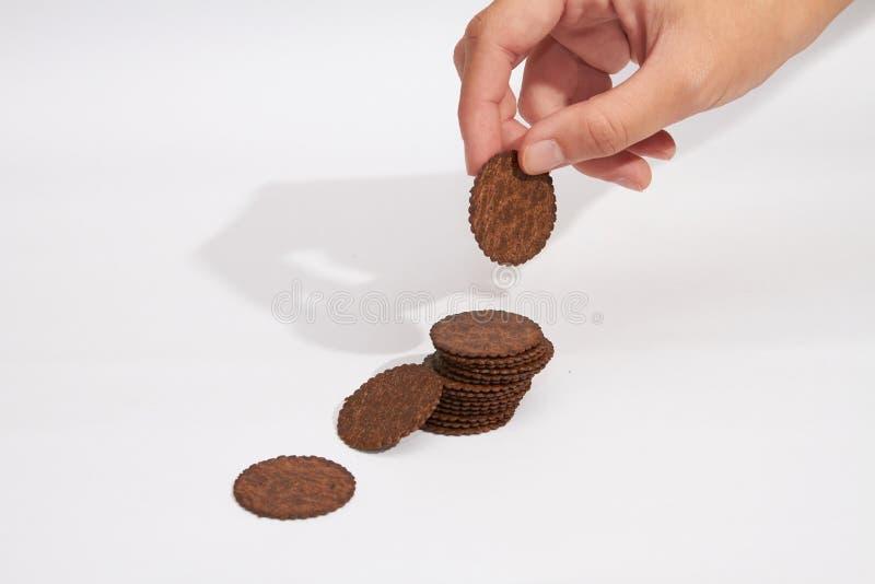 采摘饼干 免版税库存照片