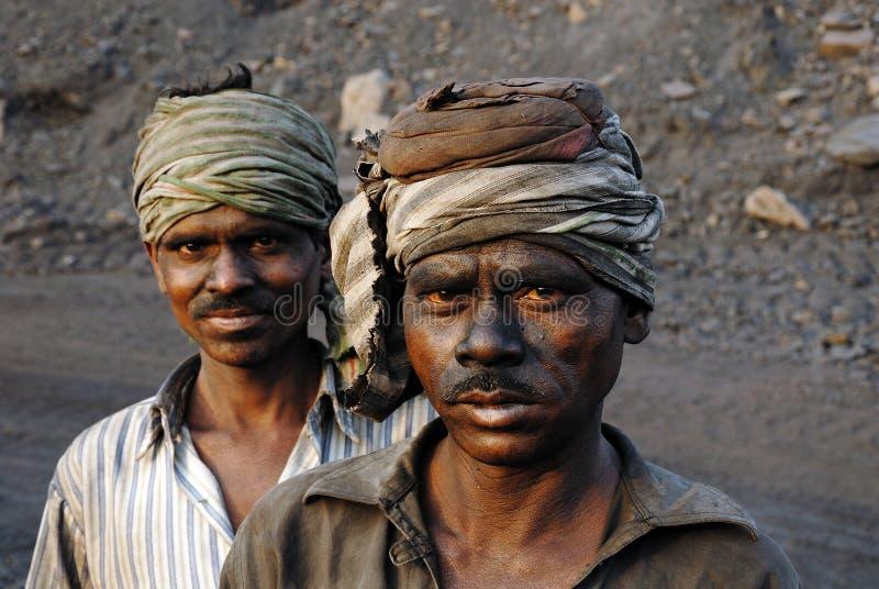 采煤印度最小值 免版税图库摄影