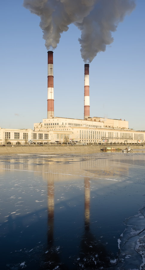 采煤工厂城镇 图库摄影