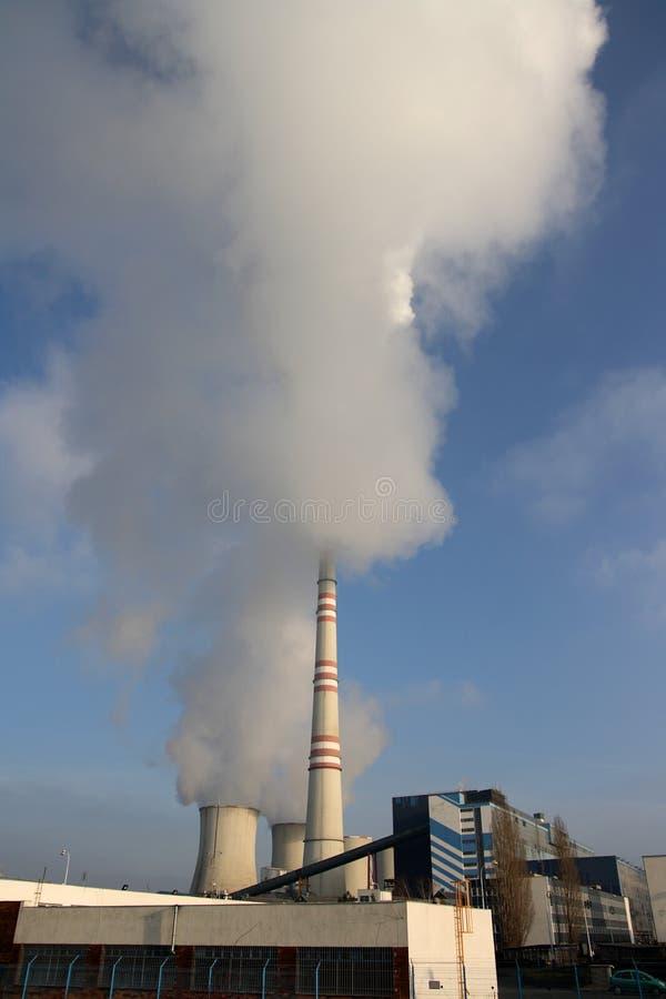 采煤工厂次幂 免版税库存图片