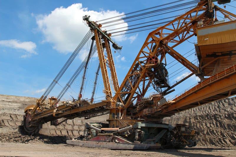 采煤挖掘机最小值开放过重的负担钢 免版税库存照片