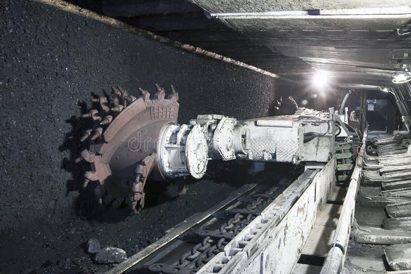 采煤挖掘机最小值 免版税库存照片