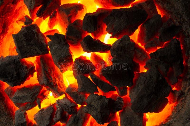 采煤热红色 库存图片
