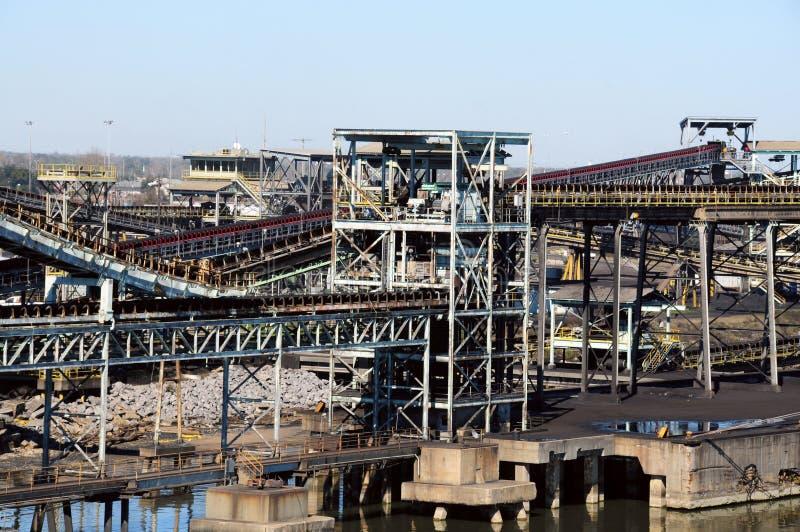 采煤精炼厂 免版税库存图片