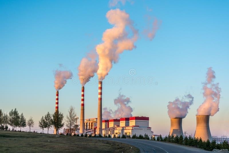 采煤被射击的工厂次幂 库存图片