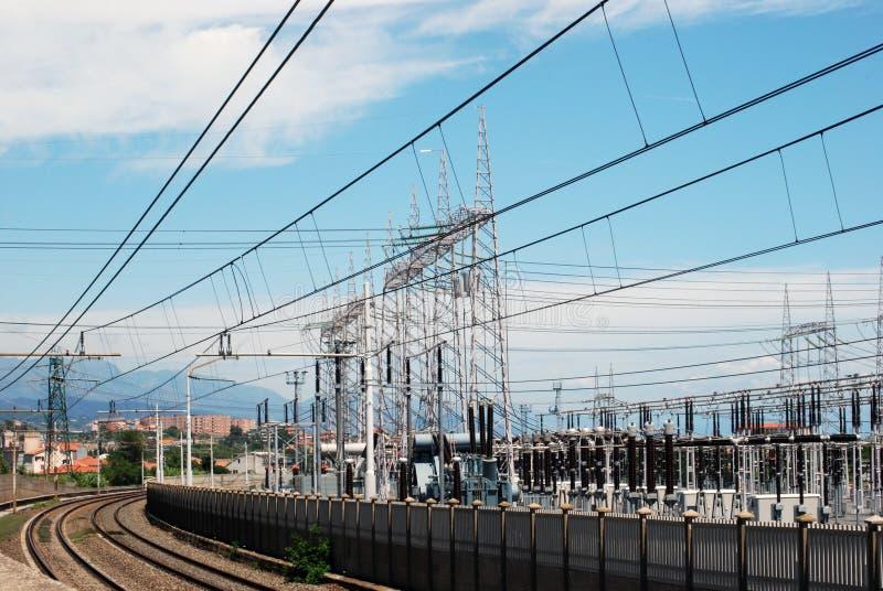 采煤详细资料发电站上升暖流 免版税库存图片