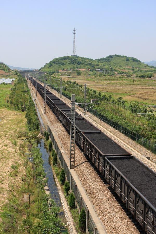 采煤铁路运输 库存图片