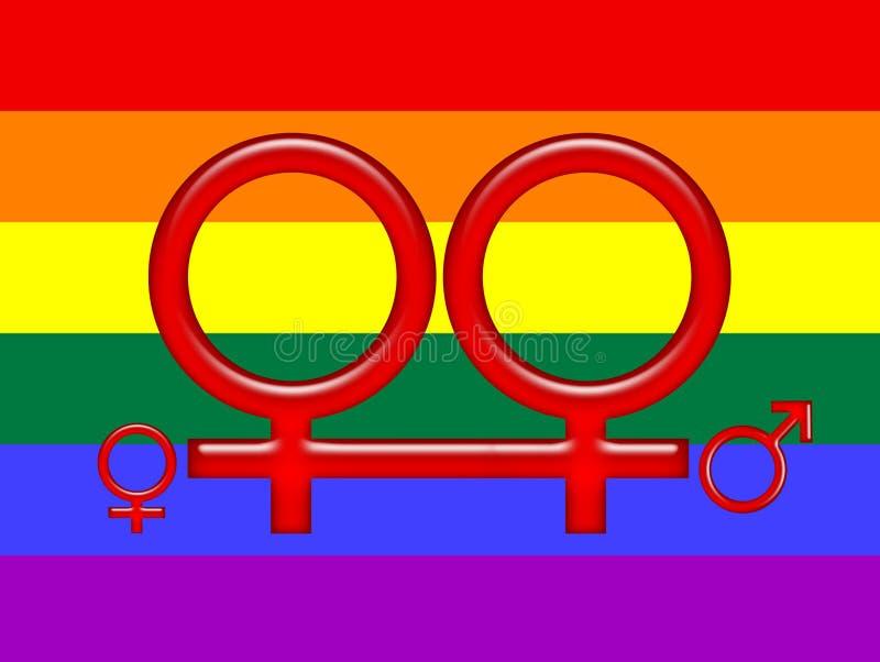 采用标志同性恋者彩虹 库存例证
